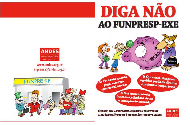 Panfleto Jornada de Luta contra o Funpresp - parte I