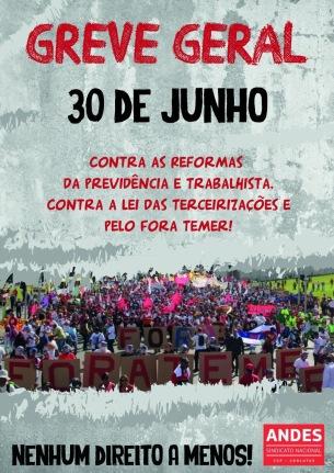 cartaz greve